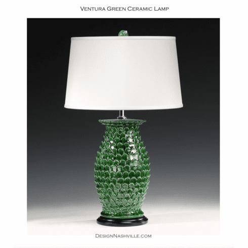 Ventura Green Ceramic Lamp