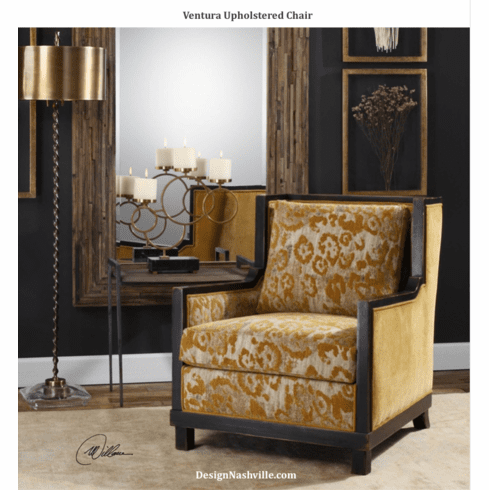 Ventura Upholstered Chair, golden