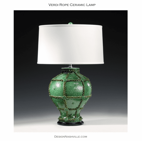 Verdi Rope Ceramic Lamp