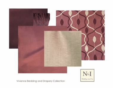 Vivienne Luxury Bedding and Drapery