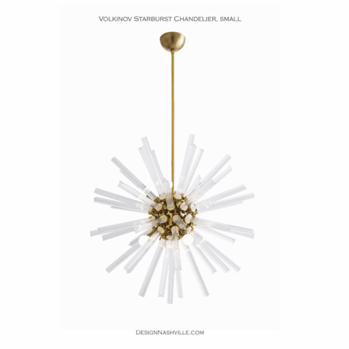"Volkinov Starburst Chandelier, 30"" brass"