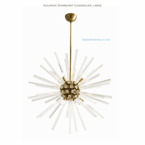 "Volkinov Starburst Chandelier, 37"" brass"