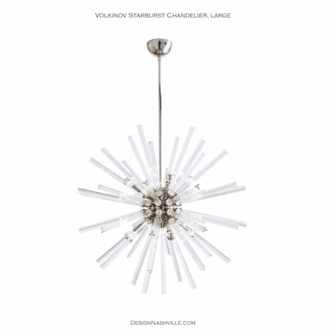"Volkinov Starburst Chandelier, 37"" nickel"