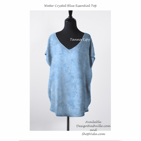 Water Crystal Blue Essential Top