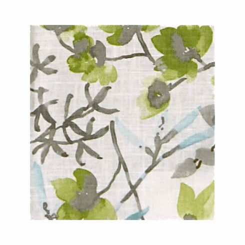 Watercolor Branches Linen Print Fabric