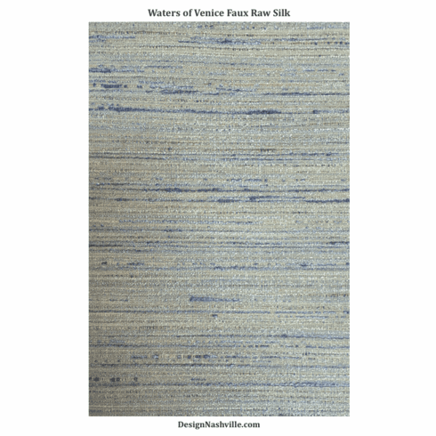 Waters of Venice Faux Raw Silk Fabric