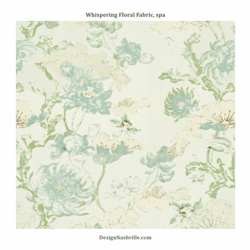 Whispering Floral Fabric, spa