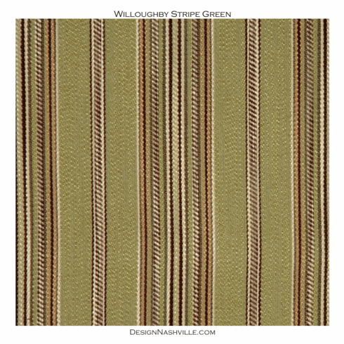 Willoughby Stripe Fabric green