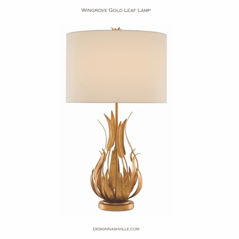 Wingrove Gold Leaf Lamp