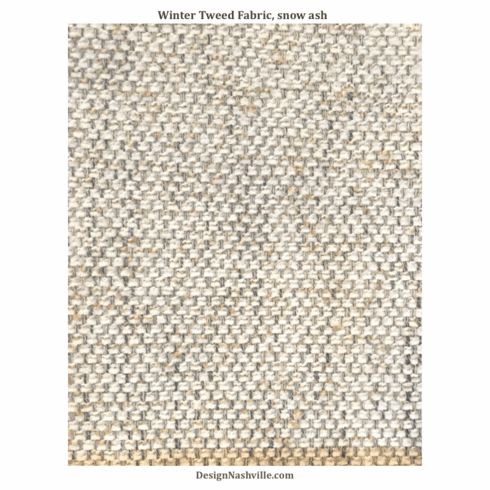 Winter Tweed Fabric, snow ash
