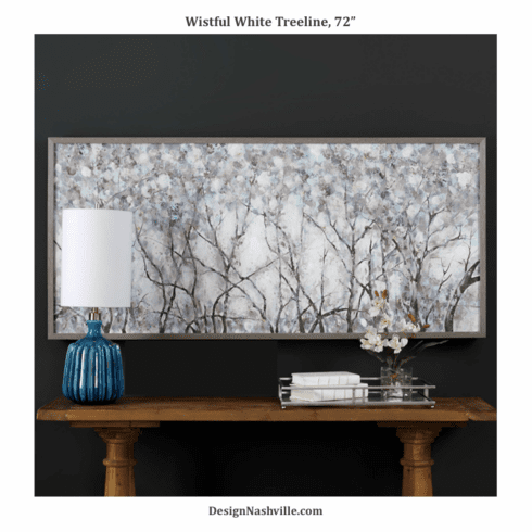 Wistful White Treeline Framed Art, 72""