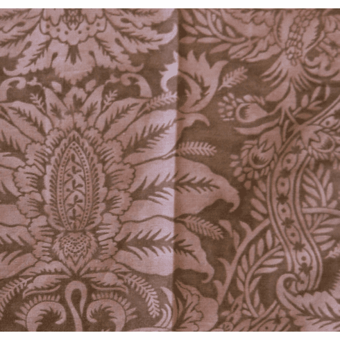 Woodland Blush Damask Print Fabric