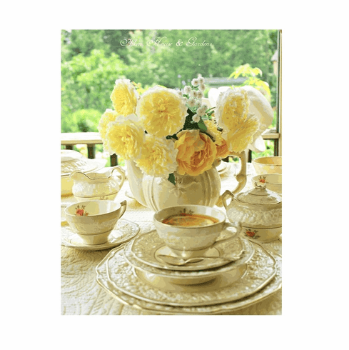 Yellow and Cream Tablescape