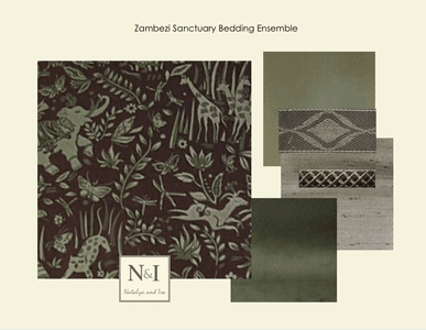 Zambezi Sanctuary Bedding and Drapery Collection