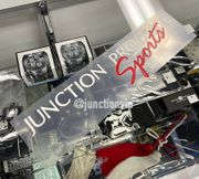 Junction Produce SPORTS Sticker Decal White/Red NOS