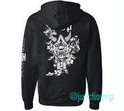 Junction Produce Hannya Mask Hoodie Black Zip Up