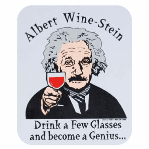 Albert Wine-Stein Mouse Pad