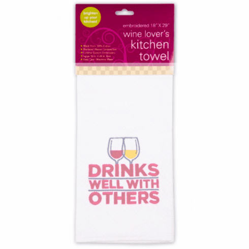 Drinks Well With Others Kitchen Towel
