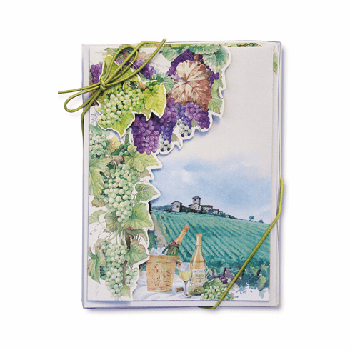 Grapes & Wine Notecard