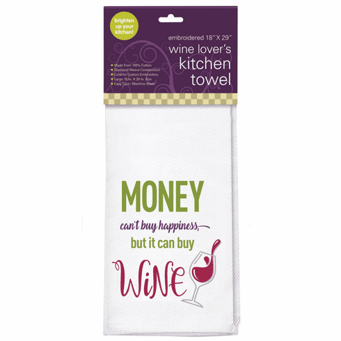 Money Can't Buy Happiness Kitchen Towel