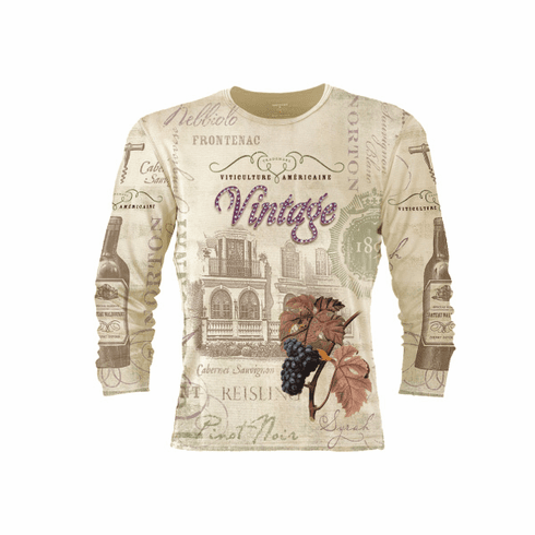 Viticulture Americaine 3/4 Sleeve Crew Neck Shirt