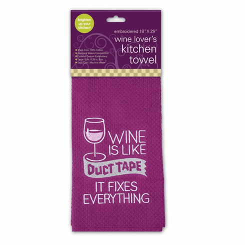 Wine is Like Duct Tape Kitchen Towel