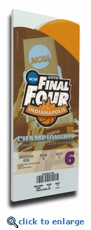 2010 Final Four Championship Canvas Mega Ticket - Duke Blue Devils