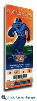 2011 Cotton Bowl Canvas Mega Ticket - LSU Tigers