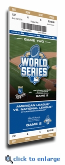 2015 World Series Game 2 Canvas Mega Ticket (Small) - Kansas City Royals