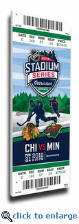 2016 NHL Stadium Series Canvas Mega Ticket - Blackhawks vs Wild