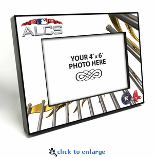 2018 ALCS 4x6 Black Wood Edge Picture Frame - Astros Vs Red Sox