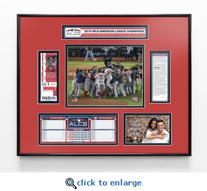 2018 ALCS Champions Ticket Frame - Boston Red Sox