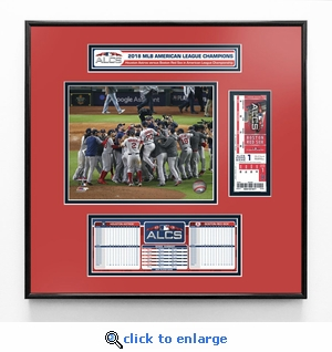 2018 ALCS Champions Ticket Frame Jr - Boston Red Sox