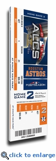 2018 ALCS Game 4 Canvas Mega Ticket - Houston Astros