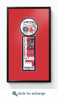 2018 ALCS Single Ticket Frame - Boston Red Sox