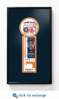 2018 ALCS Single Ticket Frame - Houston Astros