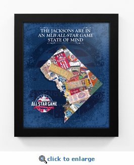 2018 MLB All-Star Game Personalized State of Mind Framed Print - Washington Nationals