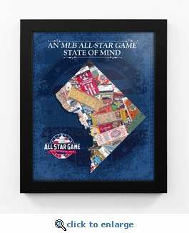 2018 MLB All-Star Game State of Mind Framed Print - Washington Nationals