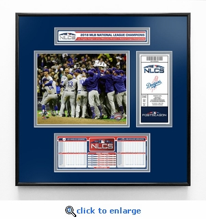2018 NLCS Champions Ticket Frame Jr - Los Angeles Dodgers