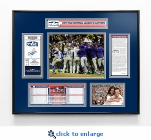 2018 NLCS Champions Ticket Frame - Los Angeles Dodgers