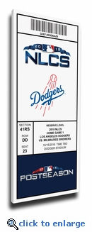 2018 NLCS Game 3 Canvas Mega Ticket - Los Angeles Dodgers
