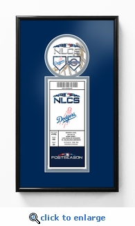2018 NLCS Single Ticket Frame - Los Angeles Dodgers