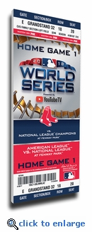 2018 World Series Boston Red Sox Game 1 Canvas Mega Ticket
