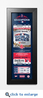 2018 World Series Champions Framed Ticket Print - Boston Red Sox