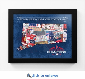 2018 World Series Champions State of Mind Framed Print - Boston Red Sox (Connecticut)