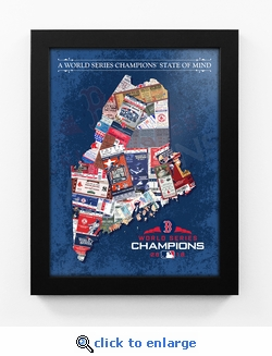 2018 World Series Champions State of Mind Framed Print - Boston Red Sox (Maine)