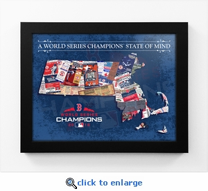 2018 World Series Champions State of Mind Framed Print - Boston Red Sox (Massachusetts)