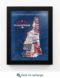 2018 World Series Champions State of Mind Framed Print - Boston Red Sox (New Hampshire)