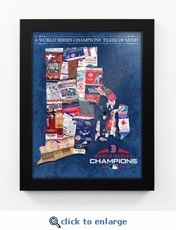 2018 World Series Champions State of Mind Framed Print - Boston Red Sox (Rhode Island)