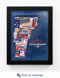 2018 World Series Champions State of Mind Framed Print - Boston Red Sox (Vermont)